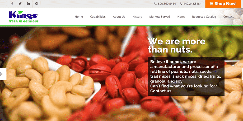 King Nut Company Website