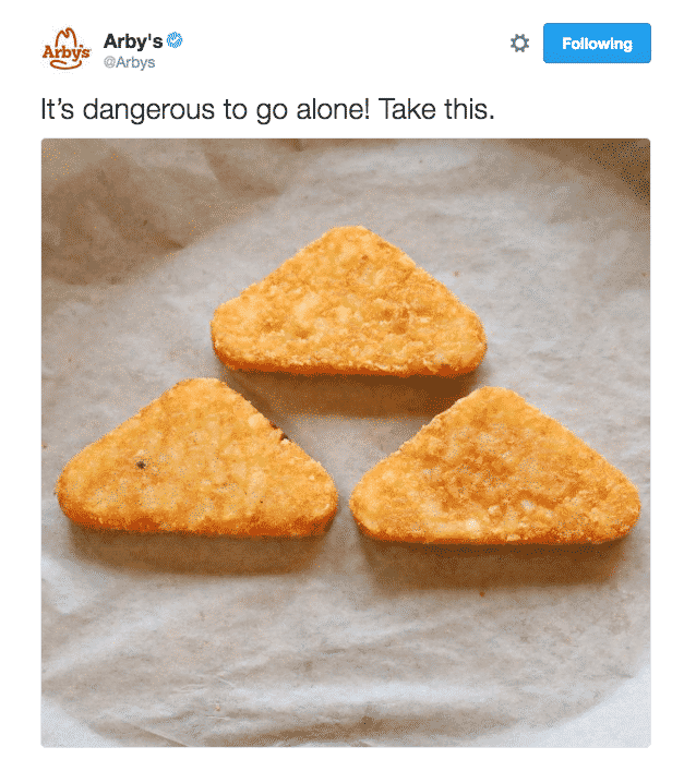 Arby's Triforce Tweet