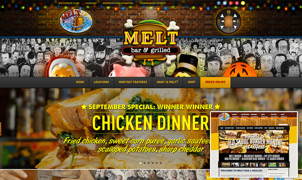 Melt Bar and Grilled Website