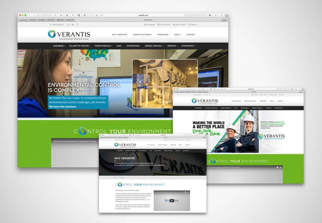 Website Design: Verantis Environmental Solutions Group