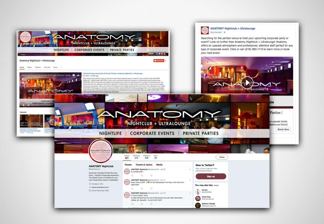 Anatomy Night Club + Ultra Lounge Social Re-skin and Social Campaign