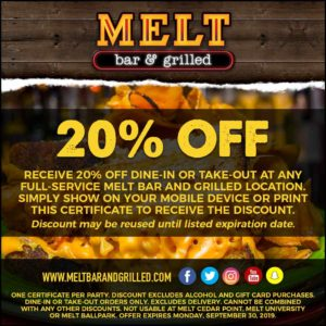 Melt 20% Off Coupon Promotion