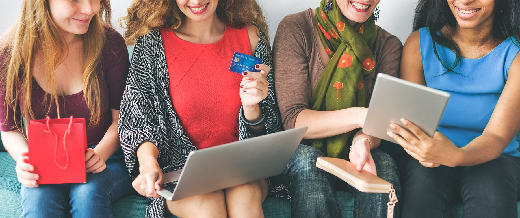 Women Shopping online using e-commerce
