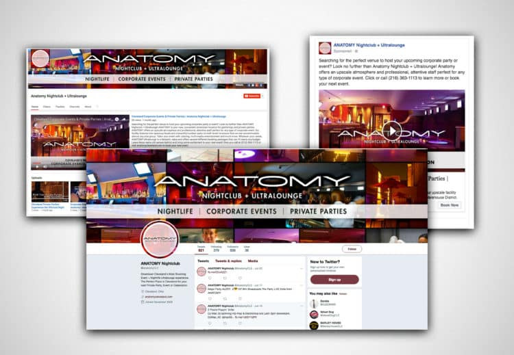 Anatomy Night Club + Ultra Lounge Social Re-skin and Campaign